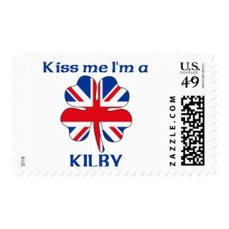 Personalized British Kiss Me I'm Kilby Stamp
