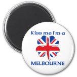 Personalized British Kiss Me I'm Melbourne Fridge Magnet