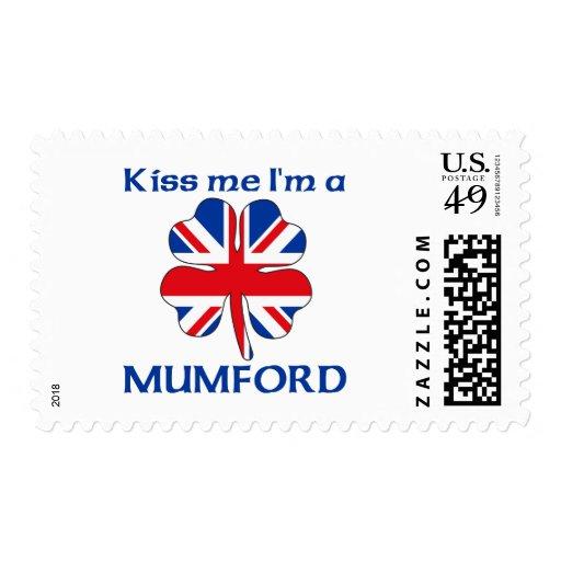 Personalized British Kiss Me I'm Mumford Stamp