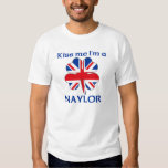 Personalized British Kiss Me I'm Naylor T-shirt