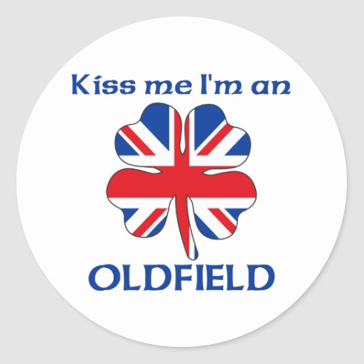 Personalized British Kiss Me I'm Oldfield Round Stickers