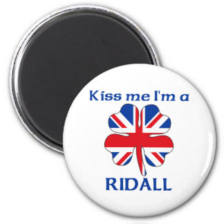 Personalized British Kiss Me I'm Ridall 2 Inch Round Magnet