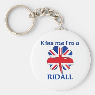 Personalized British Kiss Me I'm Ridall Keychains
