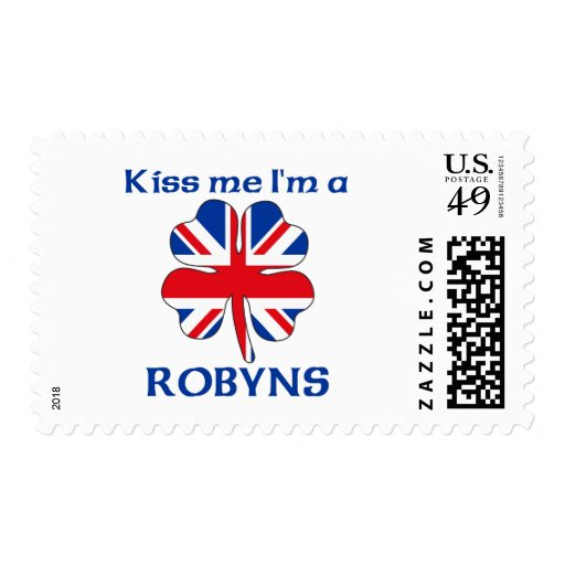 Personalized British Kiss Me I'm Robyns Stamp
