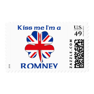 Personalized British Kiss Me I'm Romney Stamp