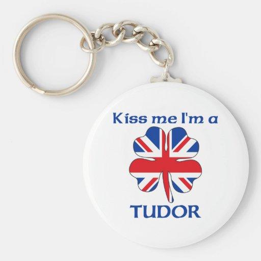 Personalized British Kiss Me I'm Tudor Keychain