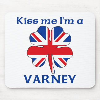 Personalized British Kiss Me I'm Varney Mouse Mats