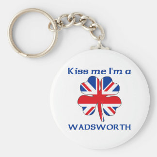 Personalized British Kiss Me I'm Wadsworth Key Chain