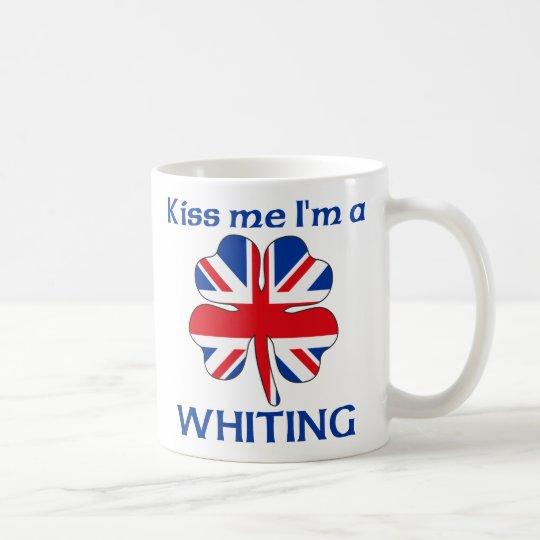 Personalized British Kiss Me I'm Whiting Coffee Mug