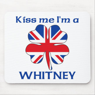 Personalized British Kiss Me I'm Whitney Mouse Pad