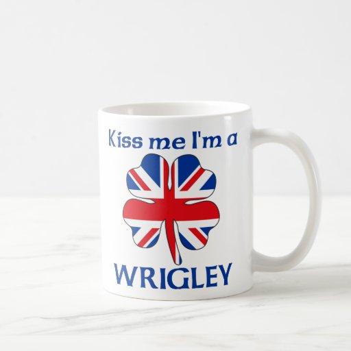 Personalized British Kiss Me I'm Wrigley Mug
