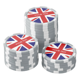 Personalized British Union Jack Flag Poker Chips at Zazzle