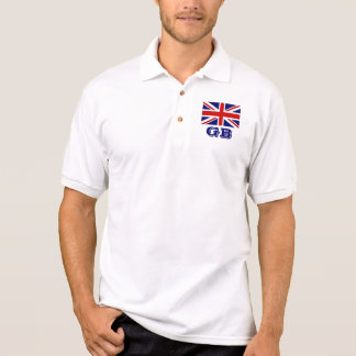 Personalized British Union Jack flag polo shirts