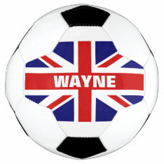 Personalized British Union Jack Flag Soccer Ball at Zazzle