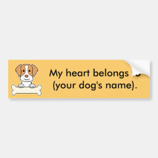 Personalized Brittany Spaniel Bumper Sticker