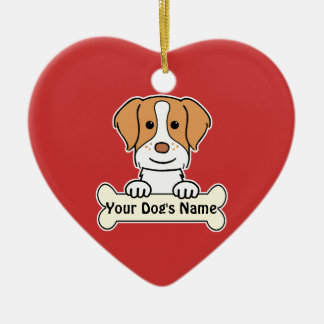 Personalized Brittany Spaniel Christmas Tree Ornament