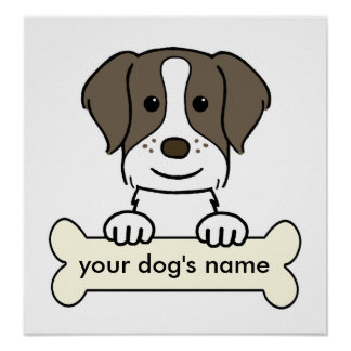 Personalized Brittany Spaniel Poster