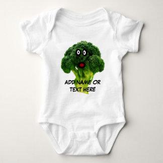 Personalized Broccoli Cartoon Baby Bodysuit