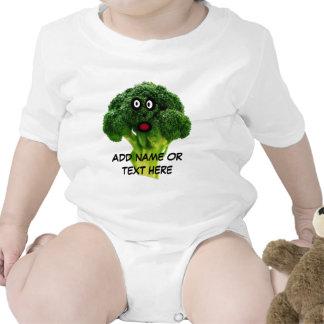 Personalized Broccoli Cartoon Baby Bodysuits