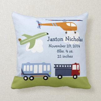Personalized Brody Transportation Pillow Keepsake