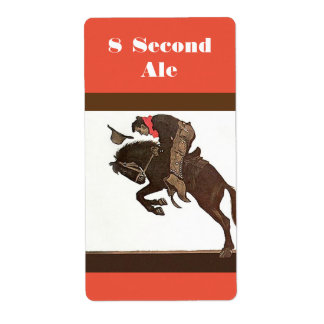 Personalized Bronc Rider 8 second lager ale Label