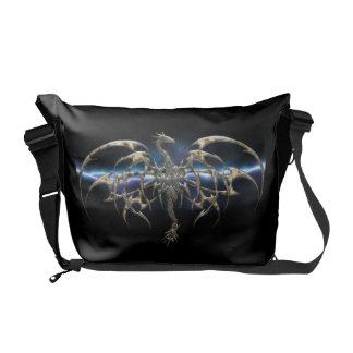 Personalized Bronze Dragon Messenger Bag
