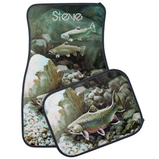 Personalized Brook Trout Car Floor Mat