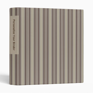Personalized Brown and Beige Striped 1 Binder