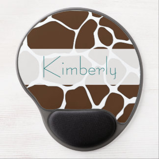Personalized Brown Giraffe Pattern Mousepad Gel Mouse Pad