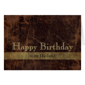 Personalized Brown/Gold Happy Birthday Masculine Card