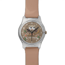Personalized Brown Owl Watch