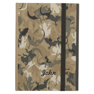Personalized Brown Reptile Camouflage iPad Case