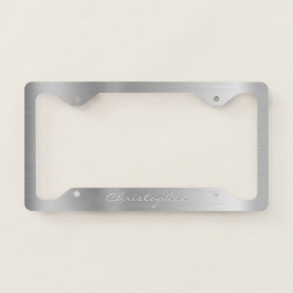 Personalized Brushed Metal Aluminum S03 License Plate Frame
