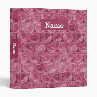 Personalized bubble wrap 3 ring binder