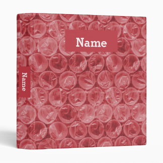 Personalized bubble wrap binder