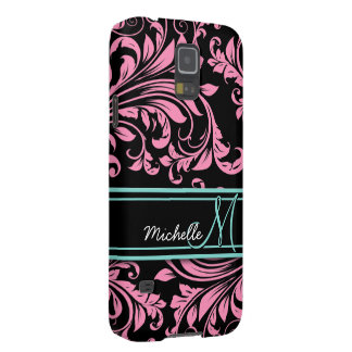 Personalized Bubblegum Pink Floral Damask Case For Galaxy S5