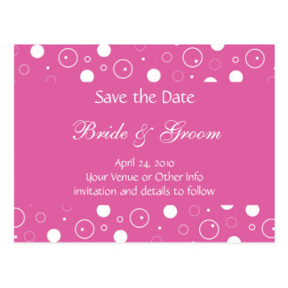 Personalized Bubbles Save the Date Postcard