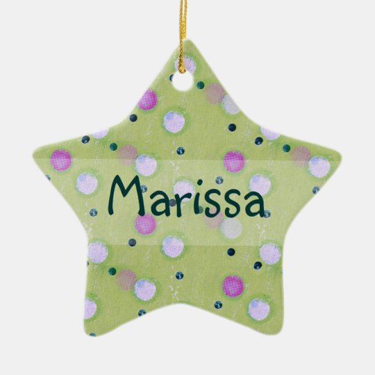 Personalized Bubbly Dots Ornament