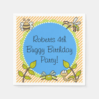 Personalized Buggy Birthday Party Paper Napkins