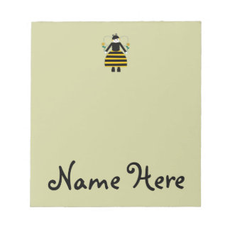 Personalized Buggy Martzkins Honey Bee Notepad