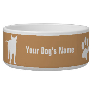 Personalized Bull Terrier ブル・テリア Bowl