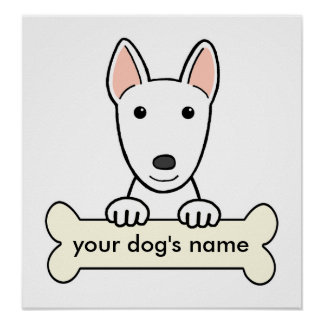 Personalized Bull Terrier Poster