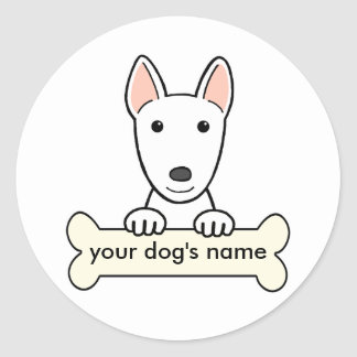 Personalized Bull Terrier Round Sticker