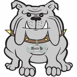 Personalized Bulldog Cut Out Magnet Sculpture