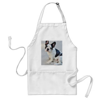 Personalized Bulldog Photo and Bulldog Name Adult Apron
