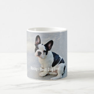 Personalized Bulldog Photo and Bulldog Name Coffee Mug