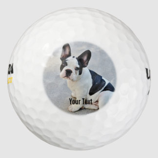 Personalized Bulldog Photo and Bulldog Name Golf Balls