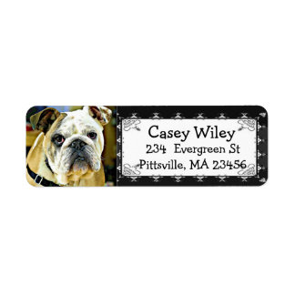 Personalized Bulldog Photo to this Address Label