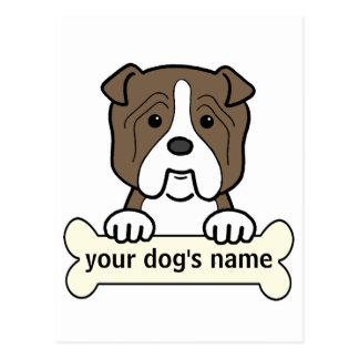Personalized Bulldog Postcard