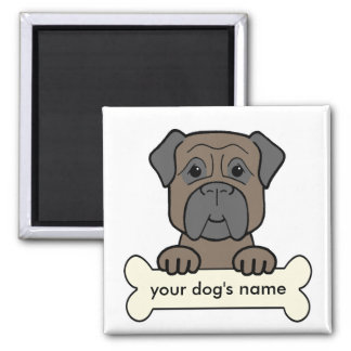 Personalized Bullmastiff 2 Inch Square Magnet